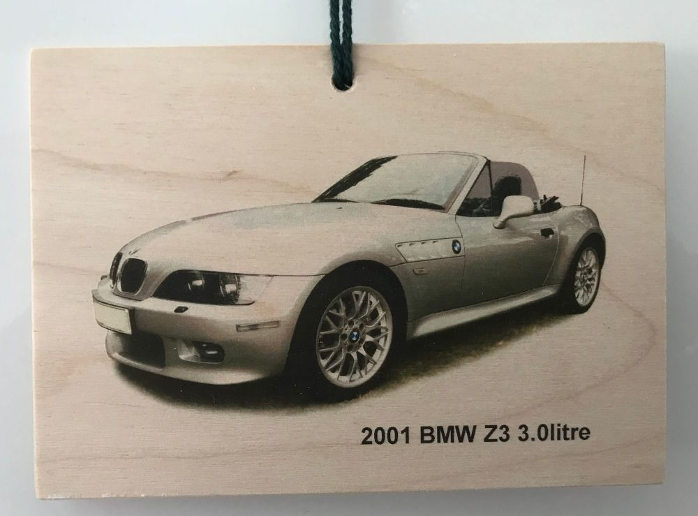 BMW Z3 2001 - Wooden Plaque A6(105 x 148mm) - Free UK Delivery