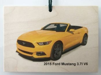 Ford Mustang 3.7litre 2015 Convertible - Wooden Plaque A6(148 x 105mm)