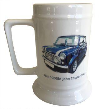 """Mini 1000le """"John Cooper' edition 1985 - 18oz Ceramic Tankard - Ideal Gift for the Car Enthusiast"""