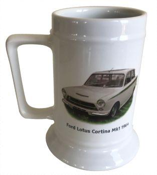 Ford Lotus Cortina Mk1 1964 - 18oz Ceramic Tankard - Ideal Gift for the Car Enthusiast