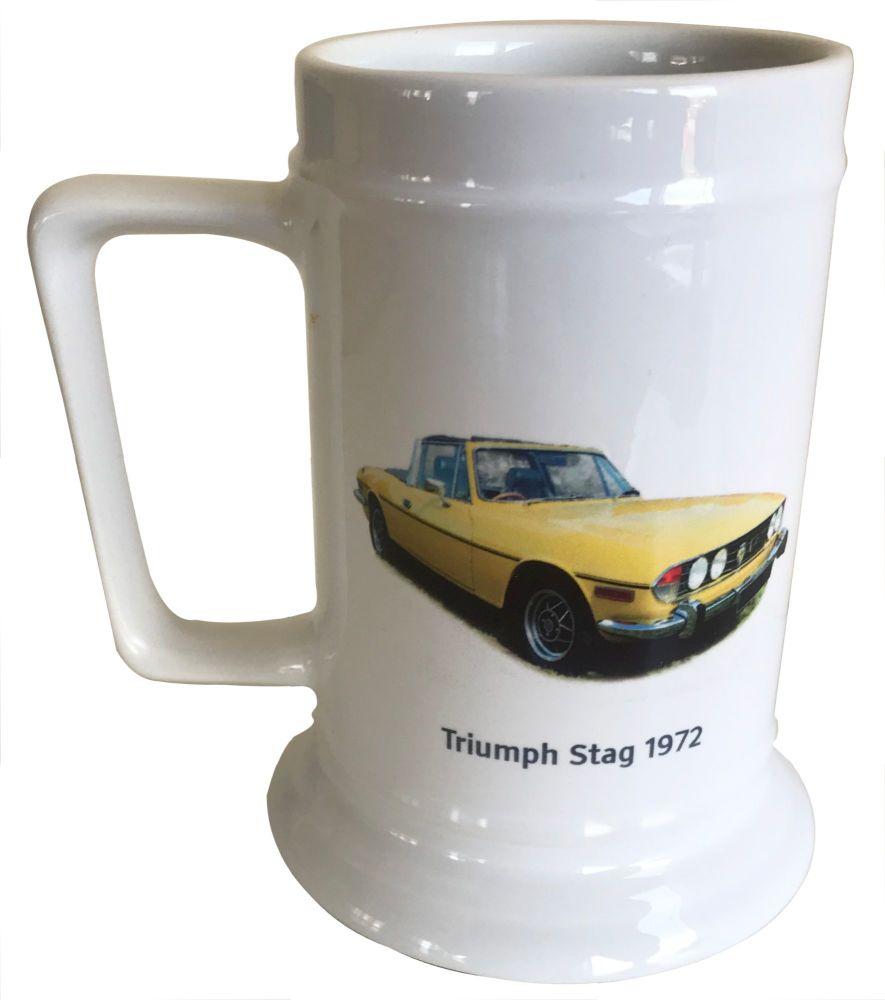 Triumph Stag 1972 - 18oz Ceramic Tankard - Ideal Gift for the Car Enthusias