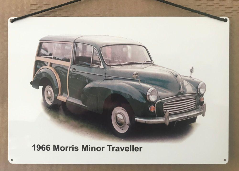 Morris Minor Traveller 1966 (Green)- Aluminium Plaque 200 x 300mm