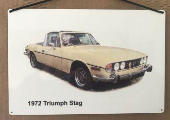 Triumph Stag 1972 - Aluminium Plaque (200 x 300mm) - Ideal Present for the British Car Enthusiast