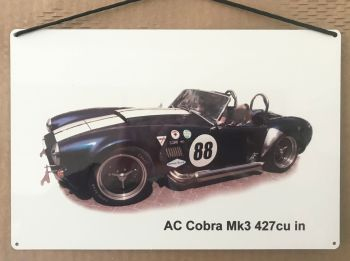 AC Cobra 427 Mk3 - Aluminium Plaque 200 x 300mm