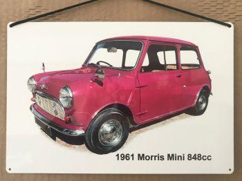 Morris Mini 848cc 1961 - Aluminium Plaque 200 x 300mm