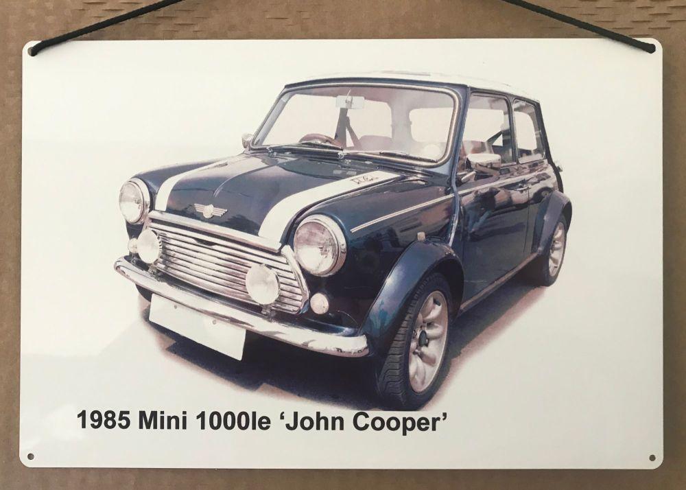 Mini 1000le 'John Cooper' edition 1985 - Aluminium Plaque (200 x 300mm) - I