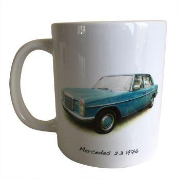 Mercedes 2.3l (W115) 1976 -  Ceramic Mug - German Saloon - Free UK Delivery