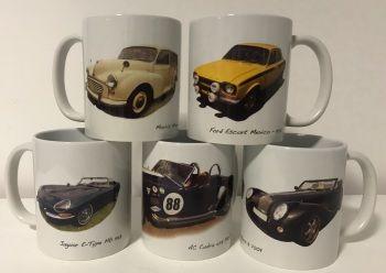 Twenty Four Printed Ceramic 11oz Mugs