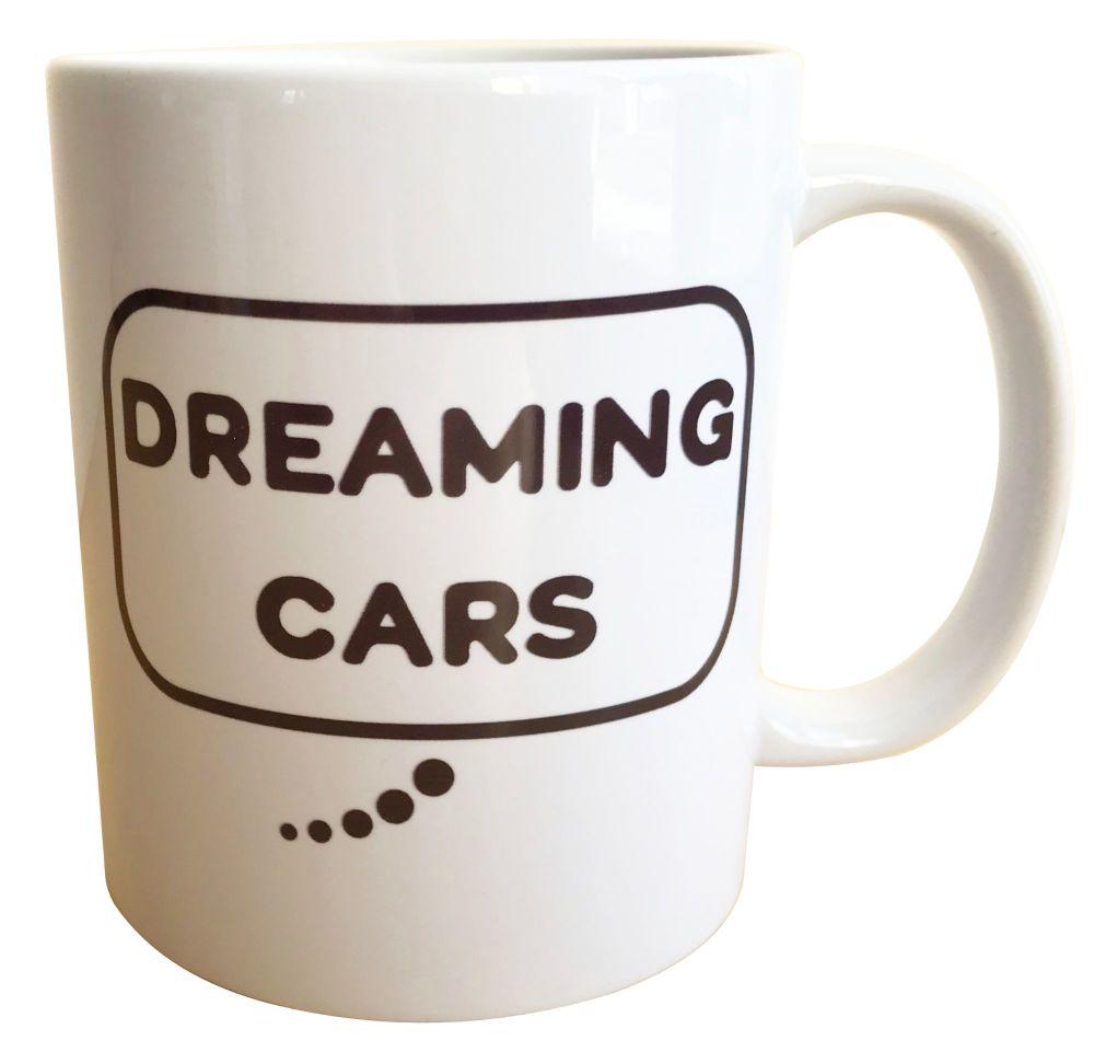 Dreaming Cars - Printed Ceramic Mug 11oz - Free UK Delivery