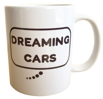 Dreaming Cars (Black)- Printed Ceramic Mug 11oz - Free UK Delivery