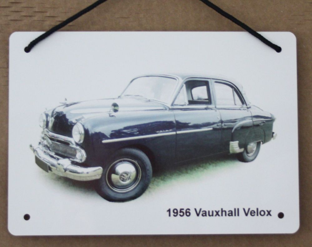 Vauxhall Velox 1956 - A5 Aluminium Plaque - Ideal Gift for the Car Enthusia