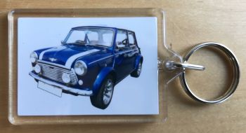 Mini 1000le 'John Cooper' edition 1985 - Plastic Keyring with 35 x 50mm Insert - Free UK Delivery