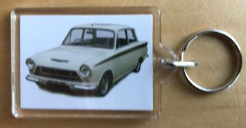 Ford Lotus Cortina Mk1 1964 - Plastic Keyring with 35 x 50mm Insert - Free UK Delivery