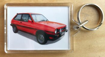 Ford Fiesta XR2 1982 - Plastic Keyring with 35 x 50mm Insert - Free UK Delivery