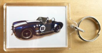 AC Cobra 427 Mk3 - Plastic Keyring with 35 x 50mm Insert - Free UK Delivery