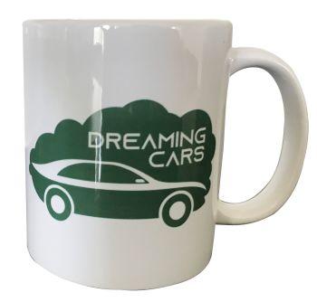 Dreaming Cars (Red & Green) - Printed Ceramic Mug 11oz - Free UK Delivery
