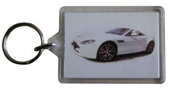 Aston Martin Vantage V8 2010 - Plastic Keyring with 35 x 50mm Insert - Free UK Delivery