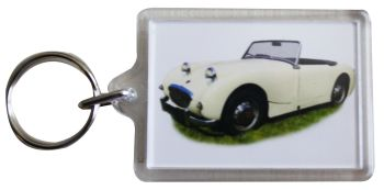 Austin Healey Sprite Mk1 1959 - Plastic Keyring with 35 x 50mm Insert - Free UK Delivery