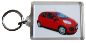 Citroen C1 VTR 2013 - Plastic Keyring with 35 x 50mm Insert - Free UK Delivery