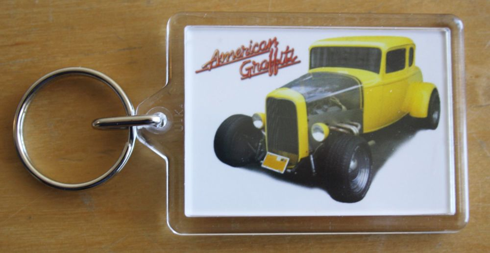 Ford Deuce Coupe 1932 (American Graffiti) - Plastic Keyring with 35 x 50mm