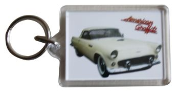 Ford Thunderbird 1956 (American Graffiti) - Plastic Keyring with 35 x 50mm Insert - Free UK Delivery