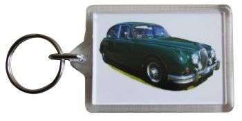 Jaguar 3.8 S-Type 1964 - Plastic Keyring with 35 x 50mm Insert - Free UK Delivery