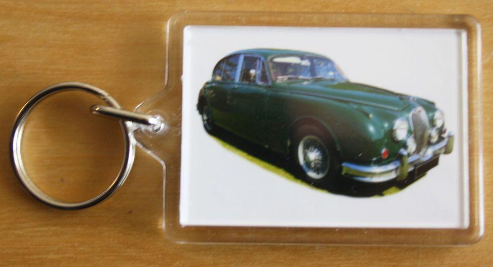 Jaguar 3.8 S-Type 1964 - Plastic Keyring with 35 x 50mm Insert - Free UK De