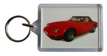 TVR S2 1989 - Plastic Keyring with 35 x 50mm Insert - Free UK Delivery