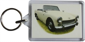 Austin Healey Sprite Mk2 1963 - Plastic Keyring with 35 x 50mm Insert - Free UK Delivery