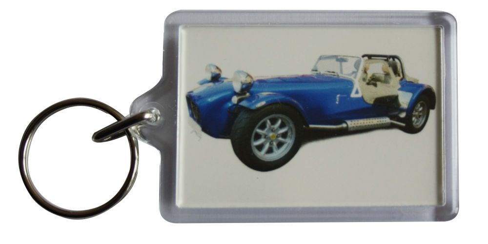 Caterham Seven 2004 - Plastic Keyring with 35 x 50mm Insert - Free UK Deliv
