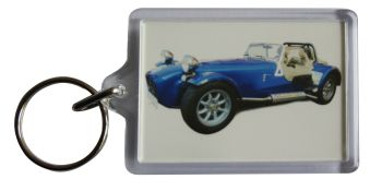 Caterham Seven 2004 - Plastic Keyring with 35 x 50mm Insert - Free UK Delivery