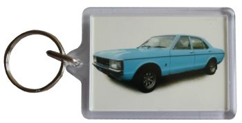 Ford Granada 3.0l Mk1 1975 - Plastic Keyring with 35 x 50mm Insert - Free UK Delivery
