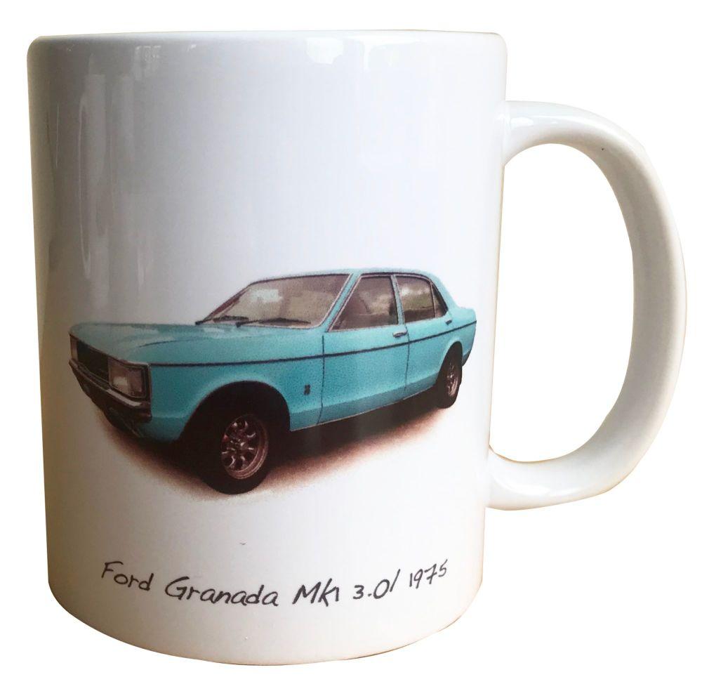 Ford Granada 3.0l Mk1 1975 - Ceramic Mug - Ideal Gift for the Car Enthusias