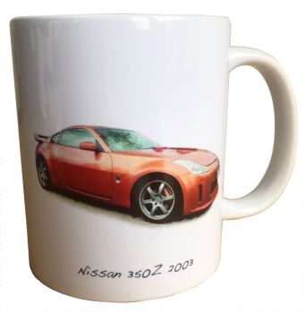 Nissan 350z 2003 - Ceramic Mug - Ideal Gift for Japanese Car Enthusiast - Free UK Delivery