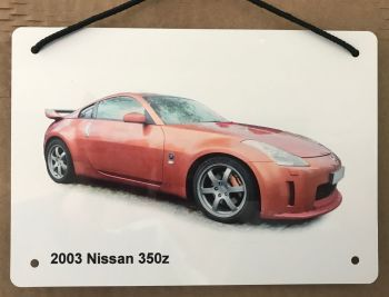 Nissan 350z 2003 - Aluminium Plaque A5 (148 x 210mm) - Gift for the Ford fanatic