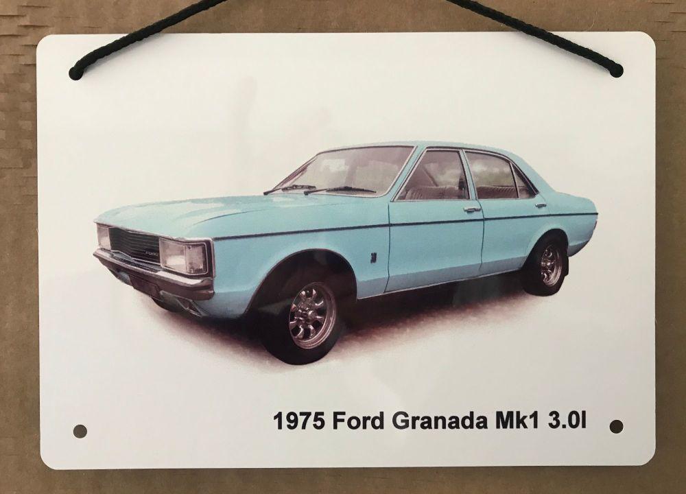 Ford Granada 3.0l Mk1 1975 - Aluminium Plaque A5 (148 x 210mm) - Gift for t