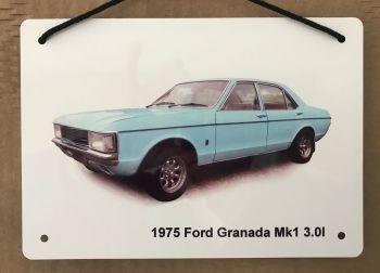 Ford Granada 3.0l Mk1 1975 - Aluminium Plaque A5 (148 x 210mm) - Gift for the Ford fanatic