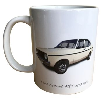 Ford Escort Mk2 1300 1980 Ceramic Mug - Ideal Gift for the Car Enthusiast - Free UK Delivery