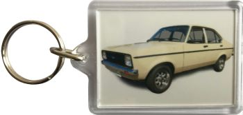 Ford Escort Mk2 1300 1980 - Plastic Keyring with 35 x 50mm Insert - Free UK Delivery