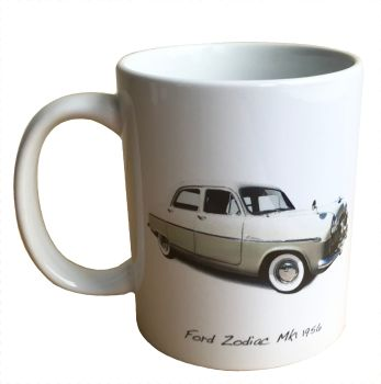 Ford Zodiac Mk1 1956 - 11oz Ceramic Mug - Ideal Gift for the Car Enthusiast - Free UK Delivery