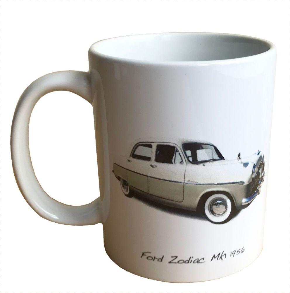 Ford Zodiac Mk1 1956 - 11oz Ceramic Mug - Ideal Gift for the Car Enthusiast