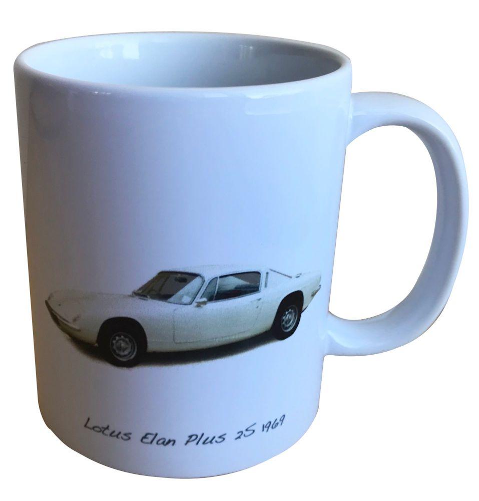 Lotus Elan Plus 2S 1969 - 11oz Ceramic Mug - Ideal Gift for the Sports Car
