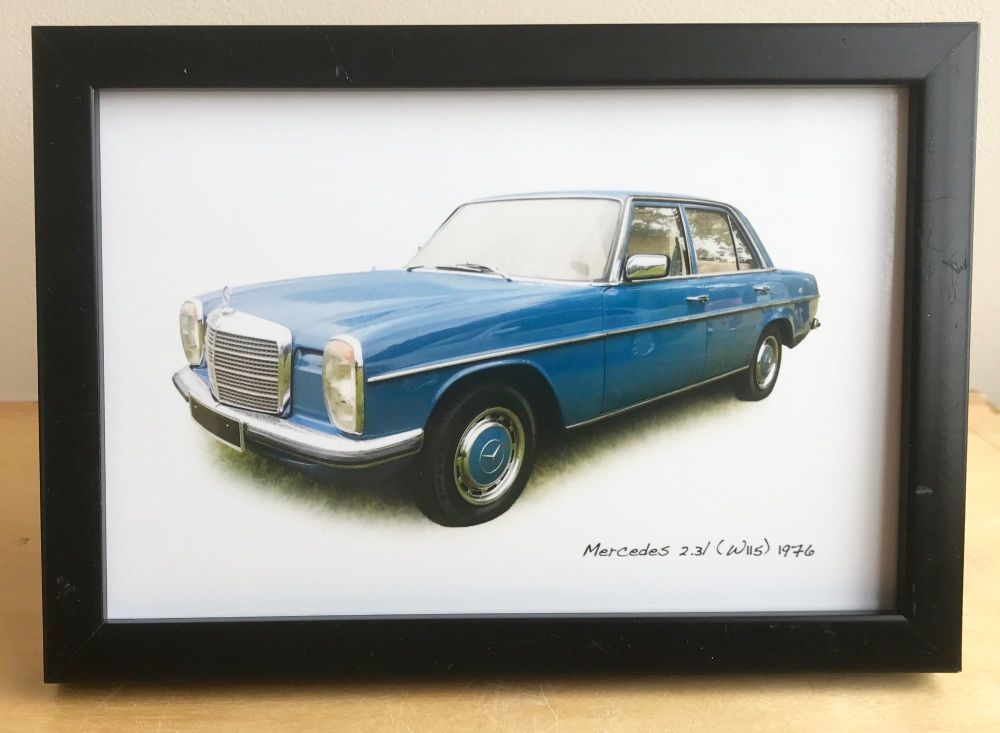 Mercedes 2.3l (W115) 1976 - Photograph (4x6in) in Black, White or Silver Co