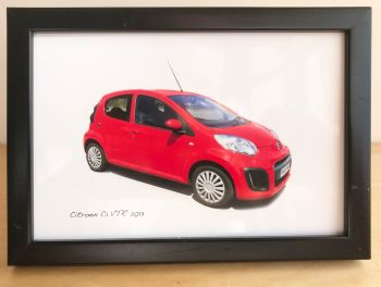 Citroen C1 VTR 2013 - Photograph (4x6in) in Black, White or Silver Coloured Frame - Free UK Delivery