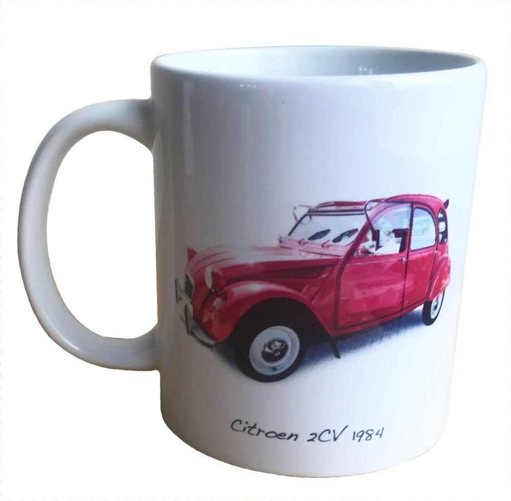 Citroen 2CV 1984 -  Ceramic Mug - Was this your first car - Fun Gift - Free