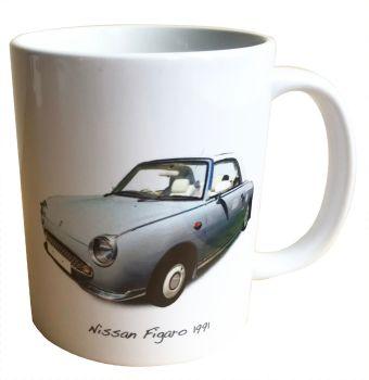 Nissan Figaro 1991 - 11oz Ceramic Mug - Ideal Gift for Japanese Car Enthusiast - Free UK Delivery