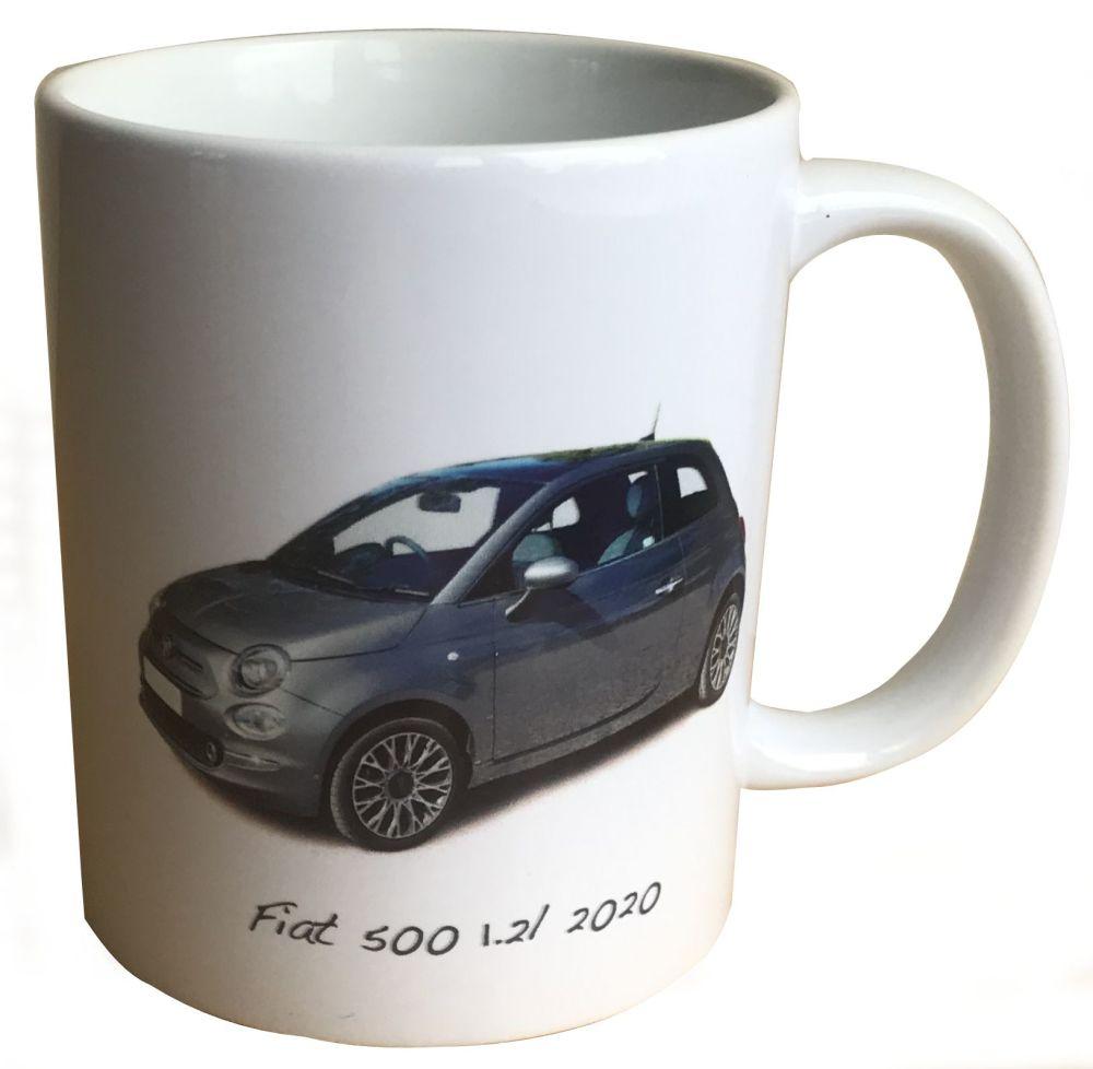 Fiat 500 1.2l 2020 - 11oz  Ceramic Mug - Ideal Gift for the Italian Car Ent