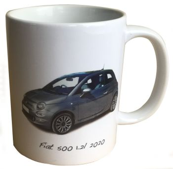 Fiat 500 1.2l 2020 - 11oz  Ceramic Mug - Ideal Gift for the Italian Car Enthusiast - Free UK Delivery