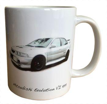 Mitsubishi Evolution 6 1999 - 11oz Ceramic Mug - Ideal Gift for Japanese Car Enthusiast - Free UK Delivery