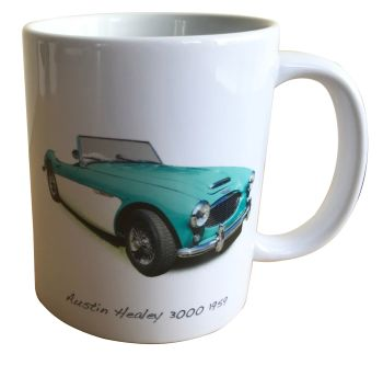 Austin Healey 3000 1959 - 11oz Ceramic Mug - Ideal Gift for the Big Healey Enthusiast - Free UK Delivery